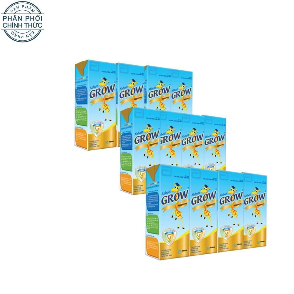 Bộ 12 hộp sữa nước Abbott Grow Gold hương vani 180ml