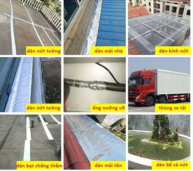 Keo HDPE dán bạt ,dán các vết nứt mái nhá ,tường chống thấm ,chống dột + Tặng kèm 2 miếng băng dính Flex tape mỗi miếng 50cm