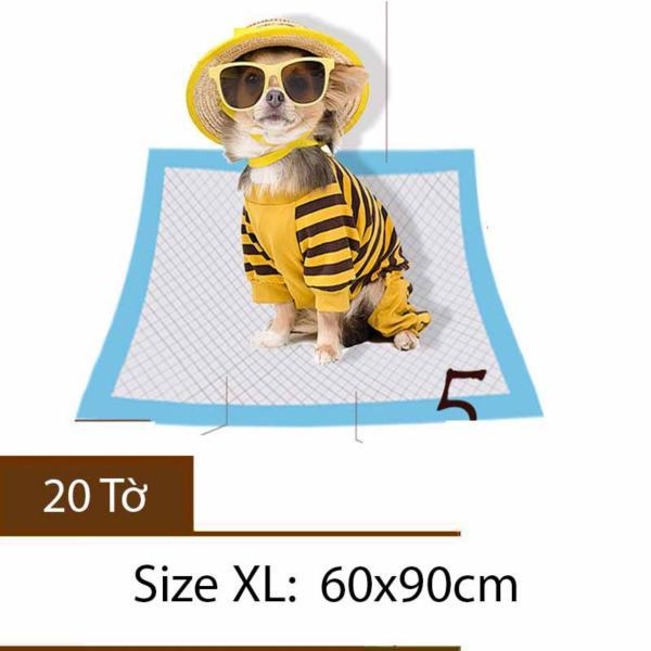 Miếng lót siêu thấm cho chó mèo - Tã lót cho thú cưng - Tã Size XL 20 tờ