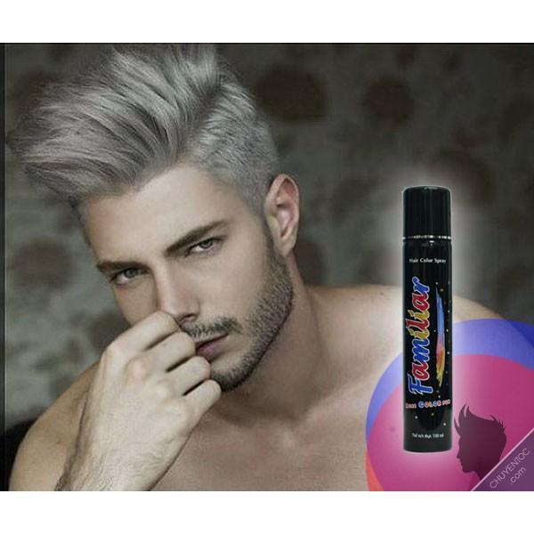 Keo xịt tóc màu Familiar 100ml - Màu K2 xám khói