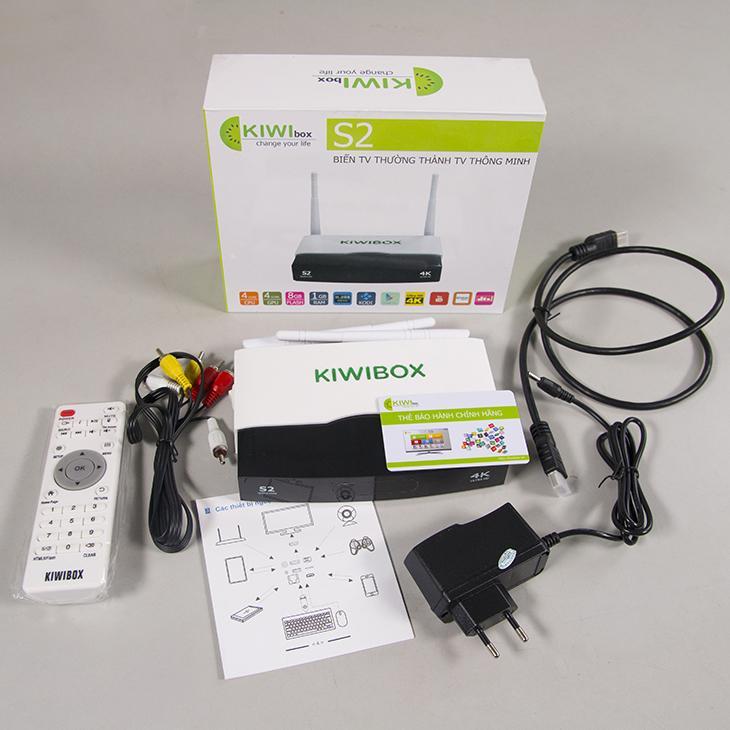 Tivi box Kiwibox S2 (Đen Phối trắng)
