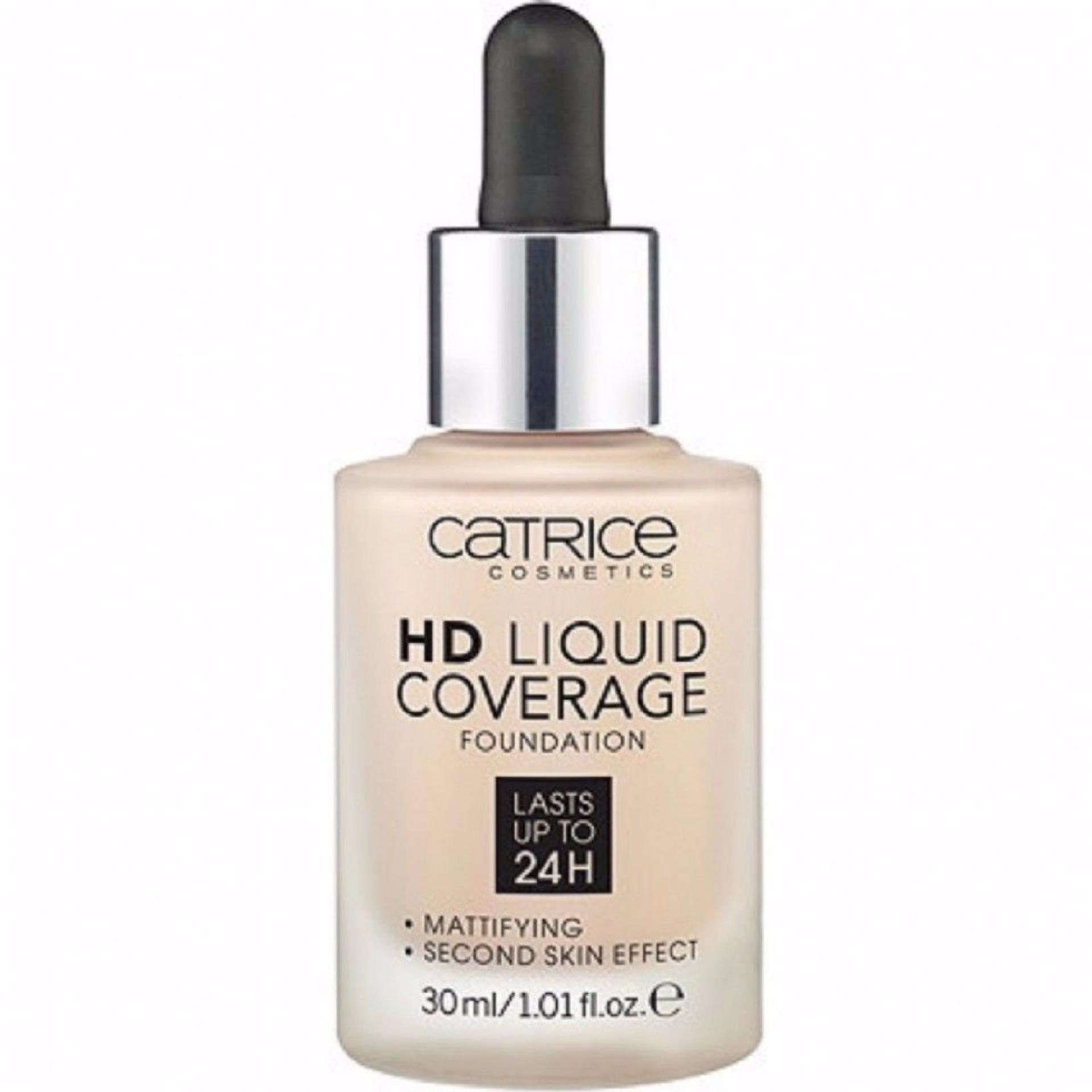 Kem nền kiềm dầu che khuyết điểm Catrice Liquid Coverage 30ml (Da tự nhiên)