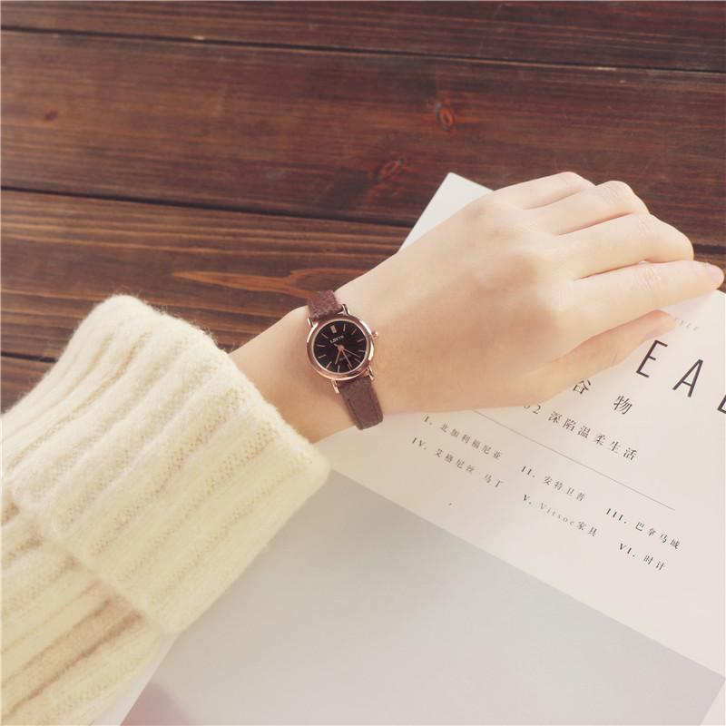 Nơi bán South Korea Order Elegant Fashion Womens CLASSIC Circle Middle School Students Versatile GirlS Simple Pendant Korean Style Watch