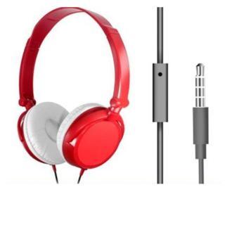 Tai nghe chụp tai F10 kèm mic màu đỏ - có thể gấp gọn) thumbnail