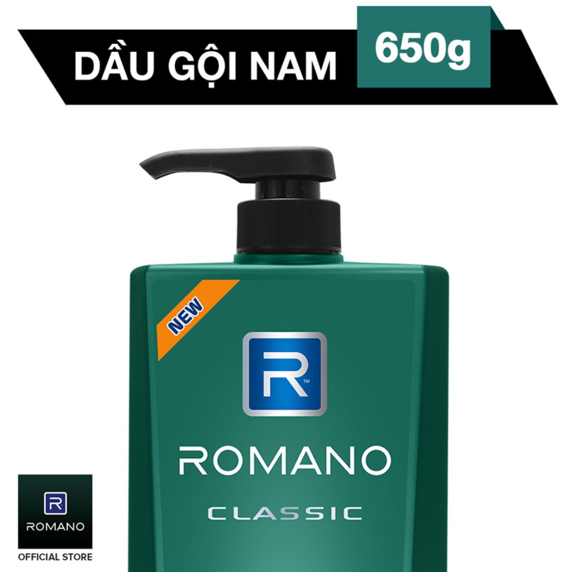 Hình ảnh Romano Dầu Gội Cao Cấp Classic 650g