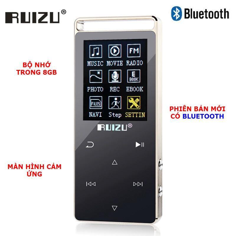 Máy nghe nhạc thể thao HiFi 2018 Ruizu D01 - Phiên bản mới có BLUETOOTH [Công ty nhập khẩu phân phối] - Bảo hành 12 tháng