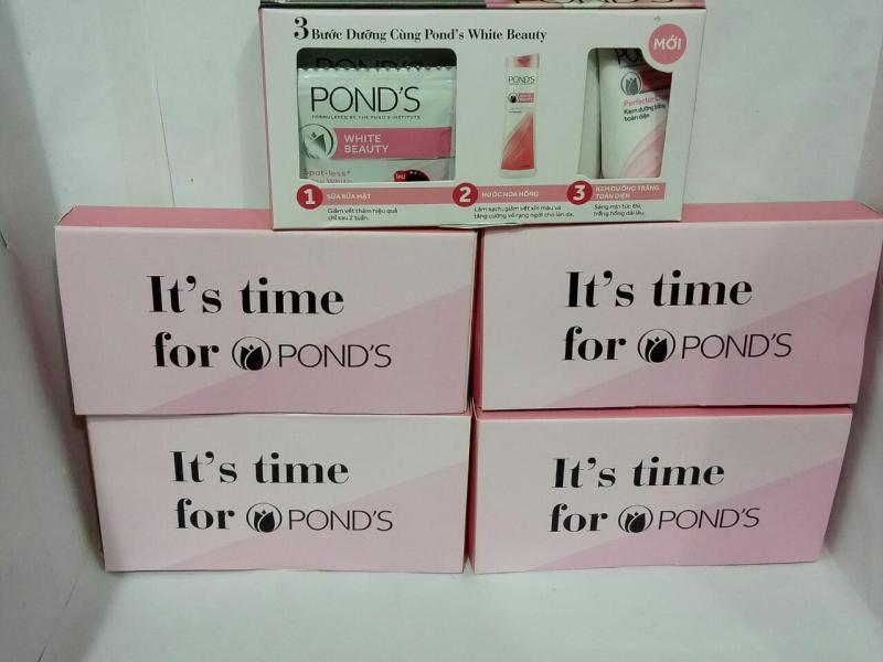 Combo 5 hộp pondtrắng hồng toàn diện bao gồm : 20 gói sữa rữa mặt + 5 tuýp kem dưỡng trắng toàn diện + tặng 5 gói sữa tắm