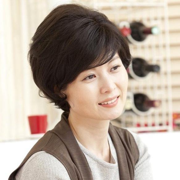 Mua Toc Giả Nữ Trung Nien Han Quốc Cao Cấp Co Da Đầu Tặng Lưới Tg10312 Nau Tối Như Hinh Rẻ