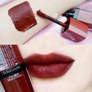 Son lì Bourjois Rouge Edition Velvet 33 Brun Croyable - Sắc đỏ ngả nâu thanh lịch thumbnail