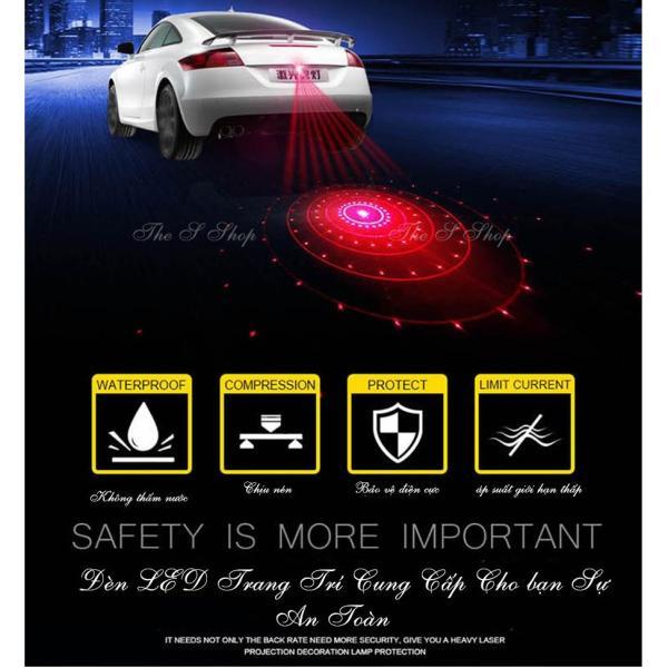 Đèn LAZE chiếu sau ôtô 6 chế độ(cao cấp)-hợp kim nhôm đen