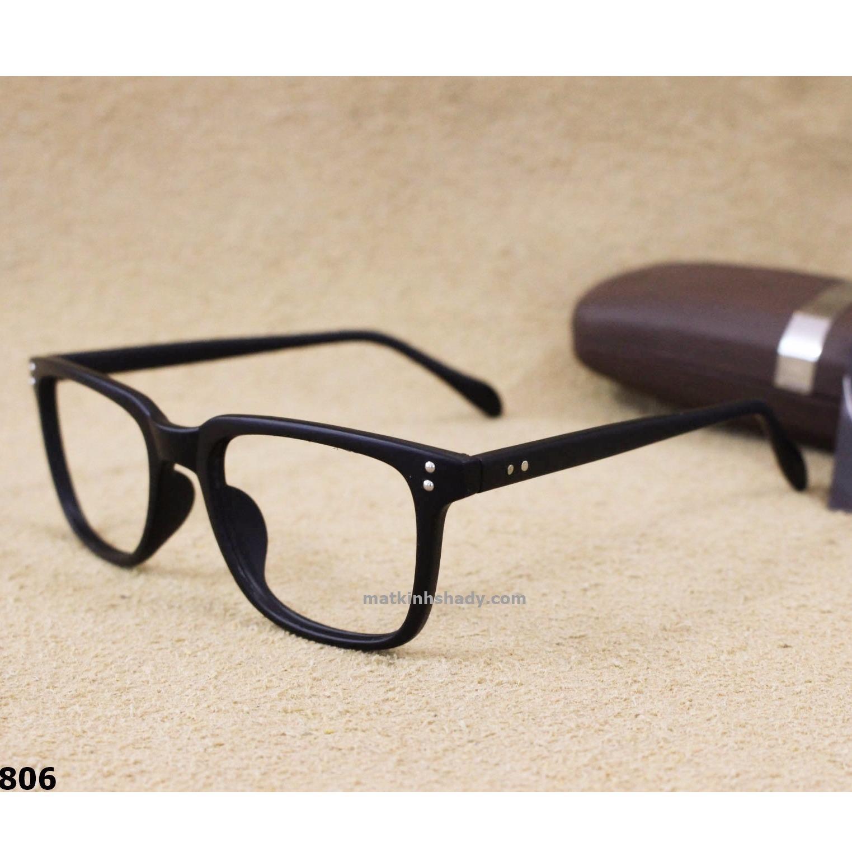 Hình ảnh Gọng kính 0 độ lõi thép Shady G806.1 (Đen Nhám)