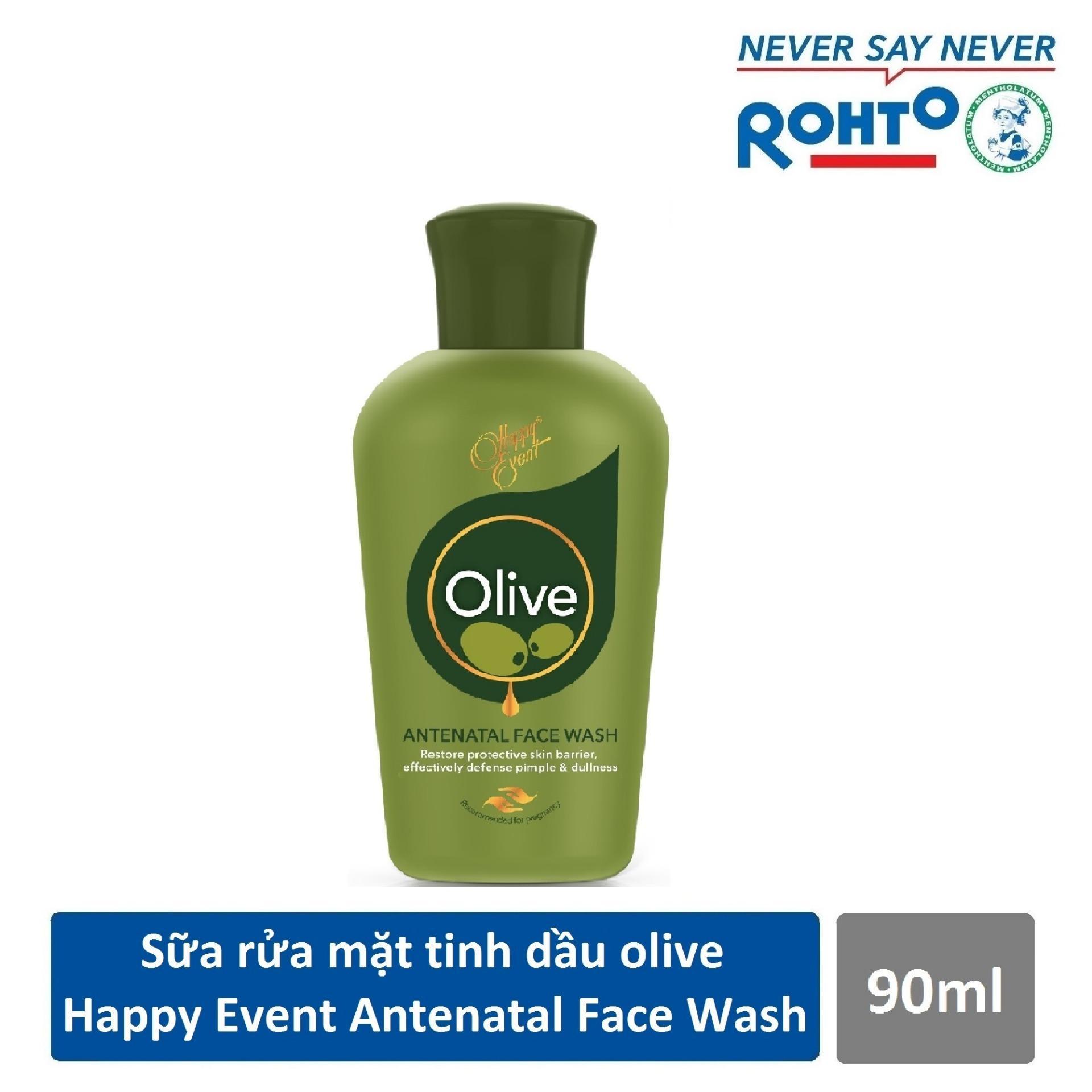 Sữa rửa mặt tinh dầu olive ngừa mụn Happy Event Antenatal Face Wash 90ml tốt nhất
