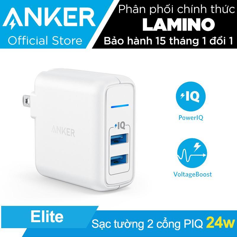 Sạc ANKER PowerPort Elite 2 cổng 24w - Hãng phân phối chính thức