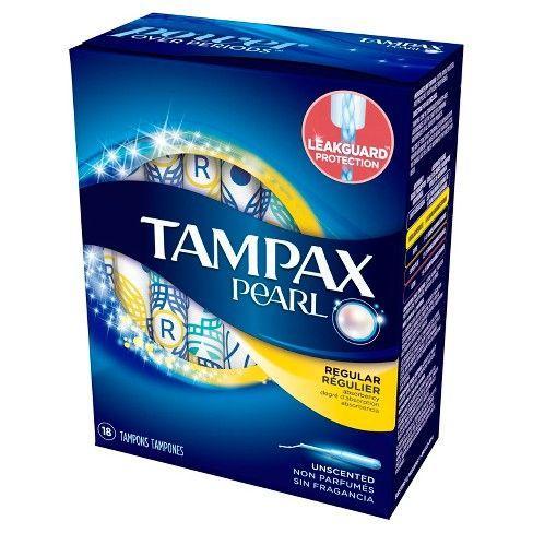 Băng vệ sinh dạng ống TAMPON Tampax Pearl của Mỹ hộp 18 miếng nhập khẩu