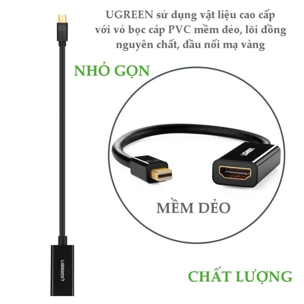 Cáp chuyển đổi Mini DisplayPort đực sang HDMI cái, hỗ trợ 1080P, dài 18cm UGREEN MD112 .