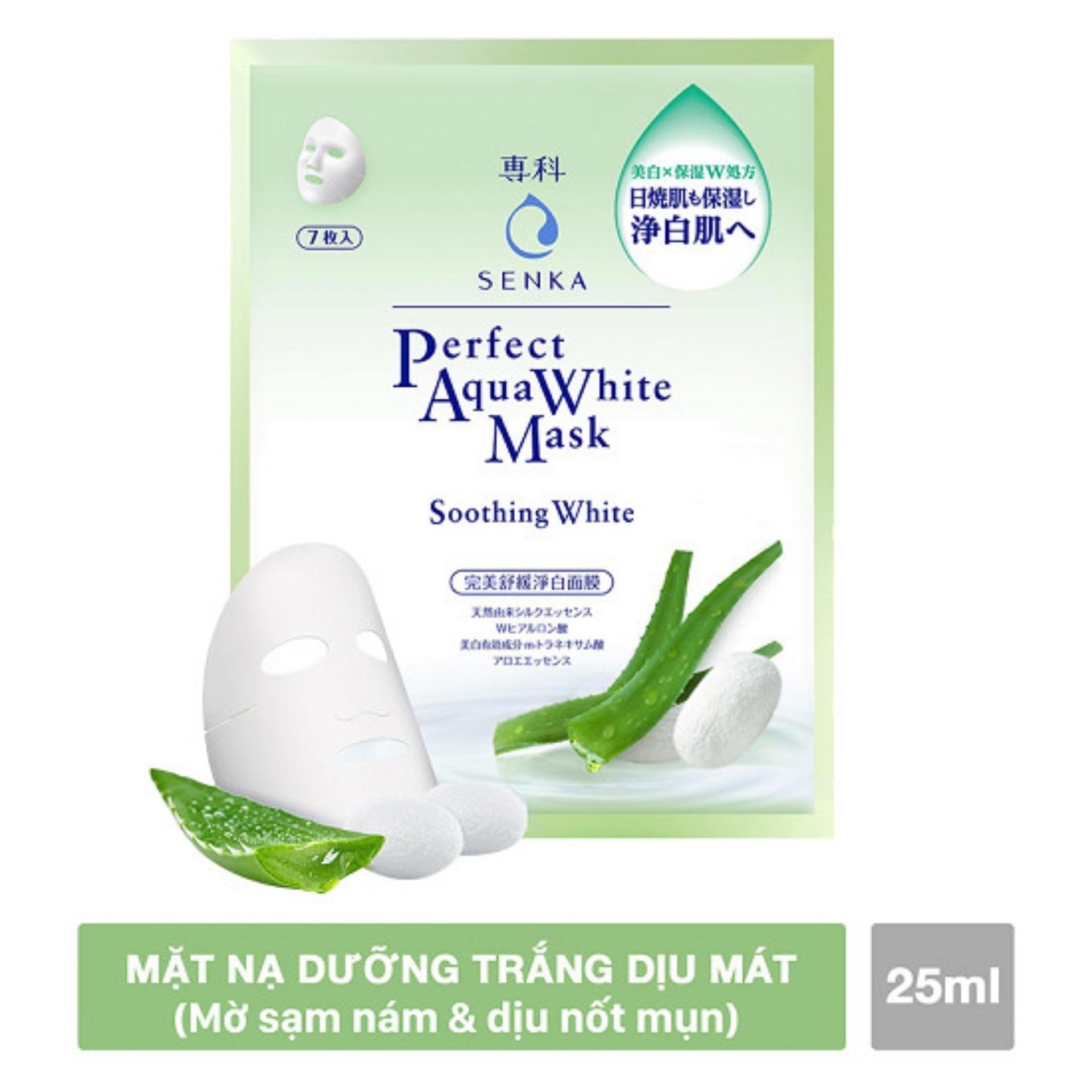 Mặt nạ Senka dưỡng trắng dịu mát 25ml/miếng (xanh lá) tốt nhất