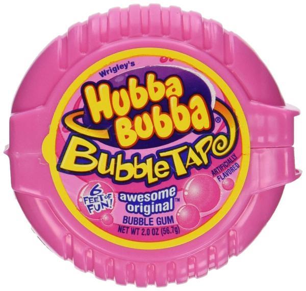 Kẹo gum cuộn Hubba Bubba DÀI 180cm  vị truyền thống màu hồng
