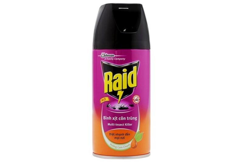 Hình ảnh Combo 2 Bình xịt muỗi Raid 300ml hương cam chanh