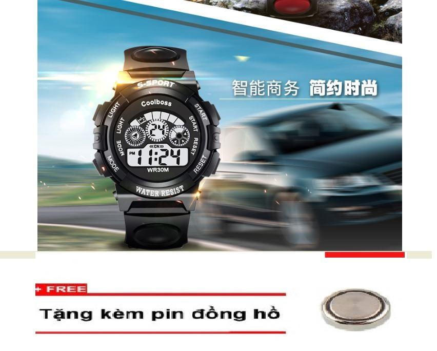 Nơi bán Đồng hồ trẻ em GOLDTIME Coolboos 0119( ĐEN) + Tặng kem 1 pin ĐH