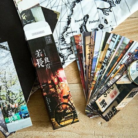 Mua Bookmark phong cách Nhật hộp 30 tấm