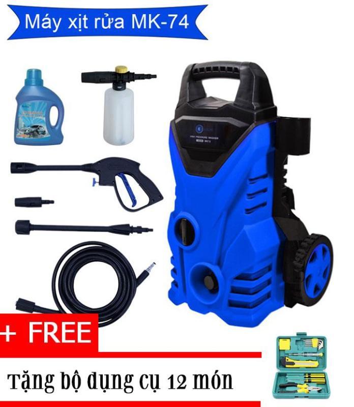 Máy rửa xe cao áp bọt tuyết Kachi MK74 + TẶNG bộ dụng cụ 12 món