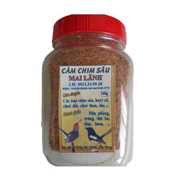 Hũ Cám Chim Sâu Mai Lãnh 100g - Thức Ăn Chim Sâu Đầu Đỏ Cao Cấp