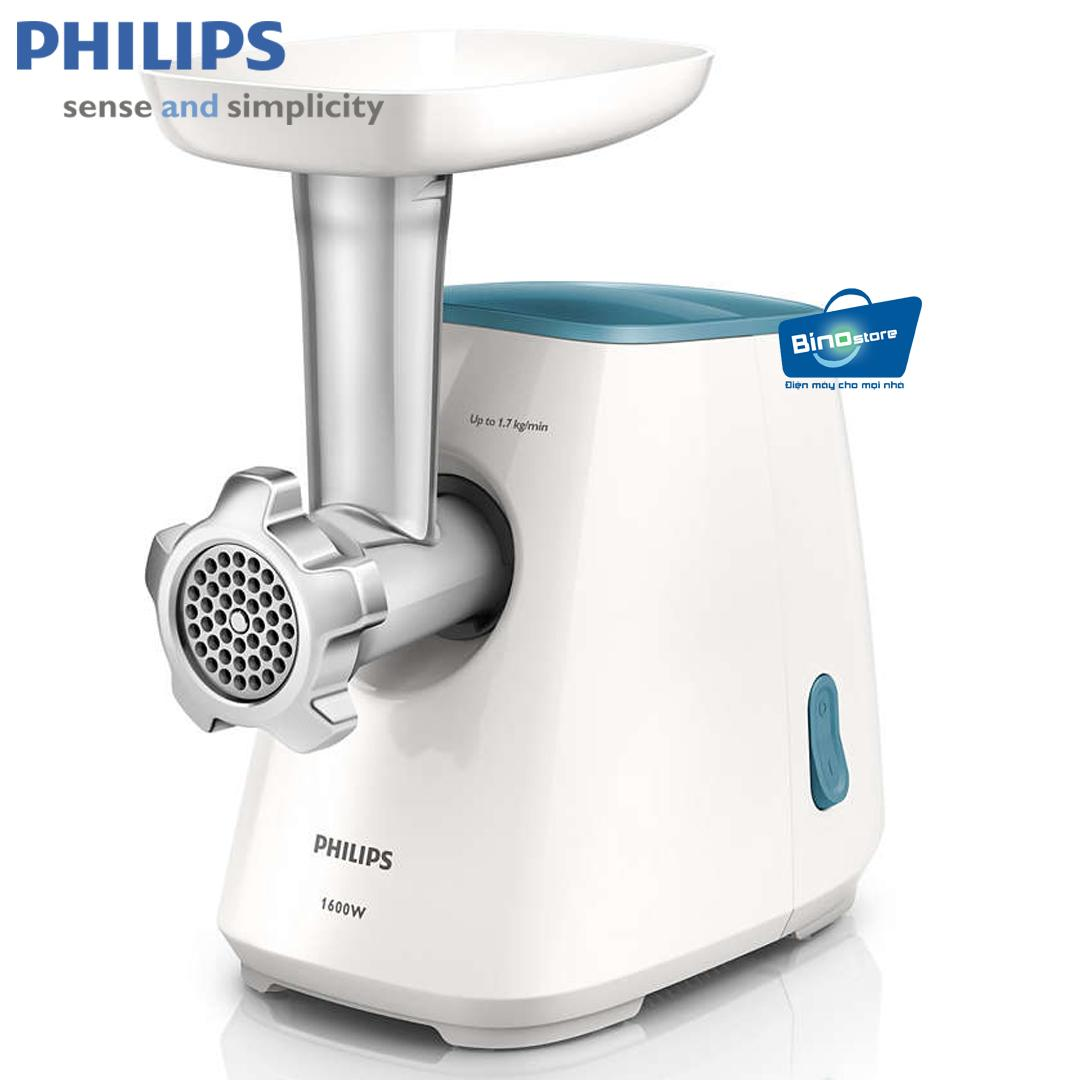 Máy xay thịt Philips HR2710 (Trắng) - Hàng nhập khẩu
