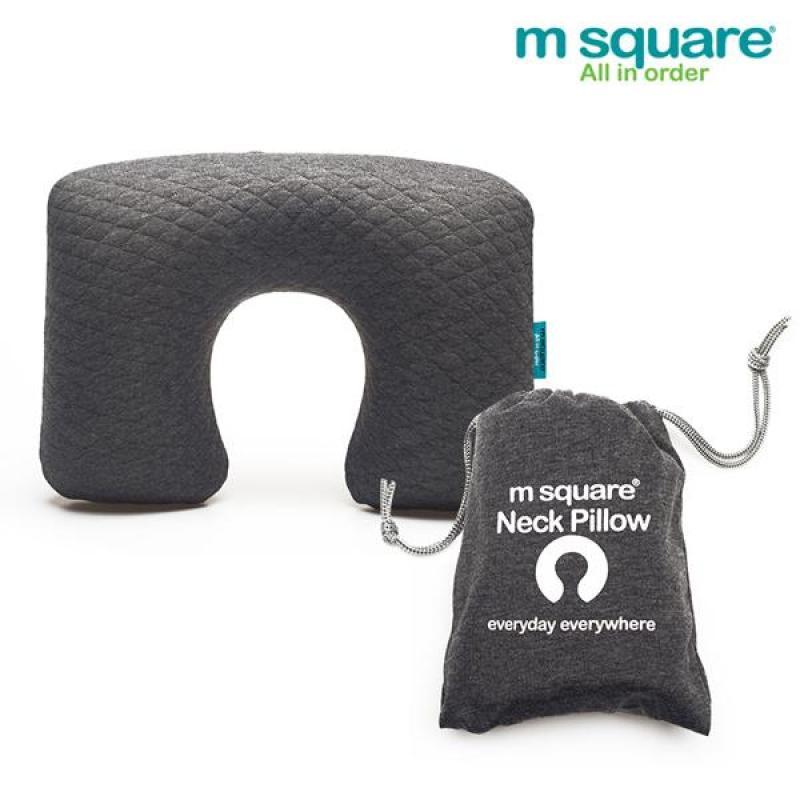 Gối hơi du lịch siêu êm ái Msquare hàng nhập khẩu  ( màu ghi )