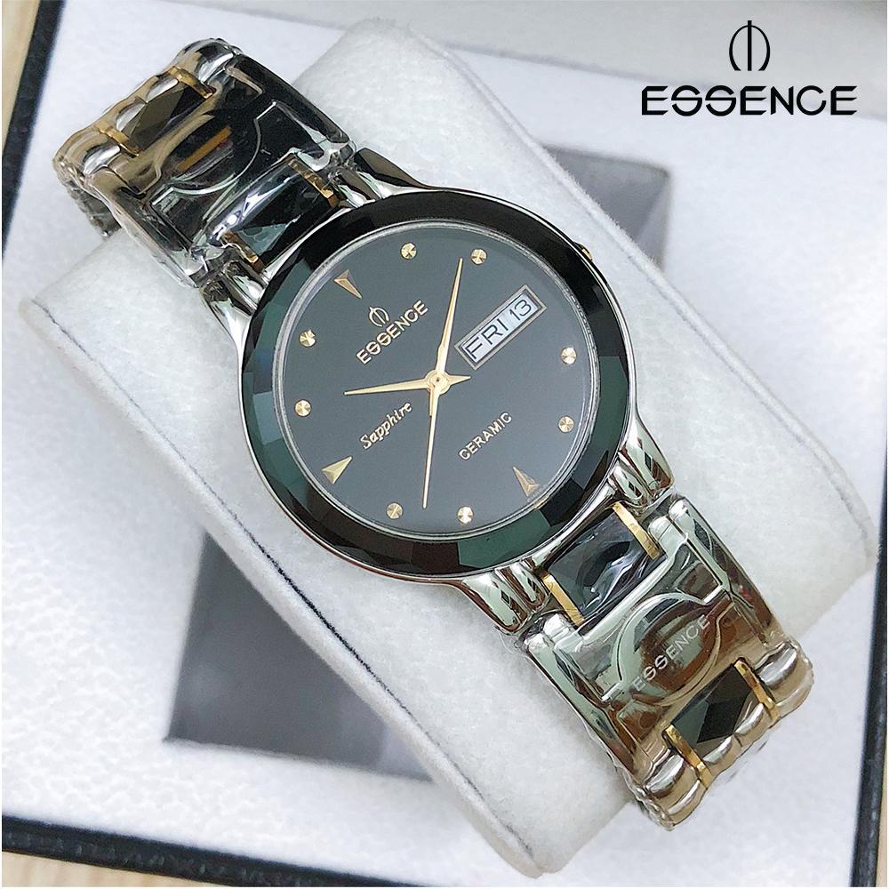 Đồng hồ nam dây thép không gỉ mặt kính sapphire chống xước Essence ES20702M (SB)