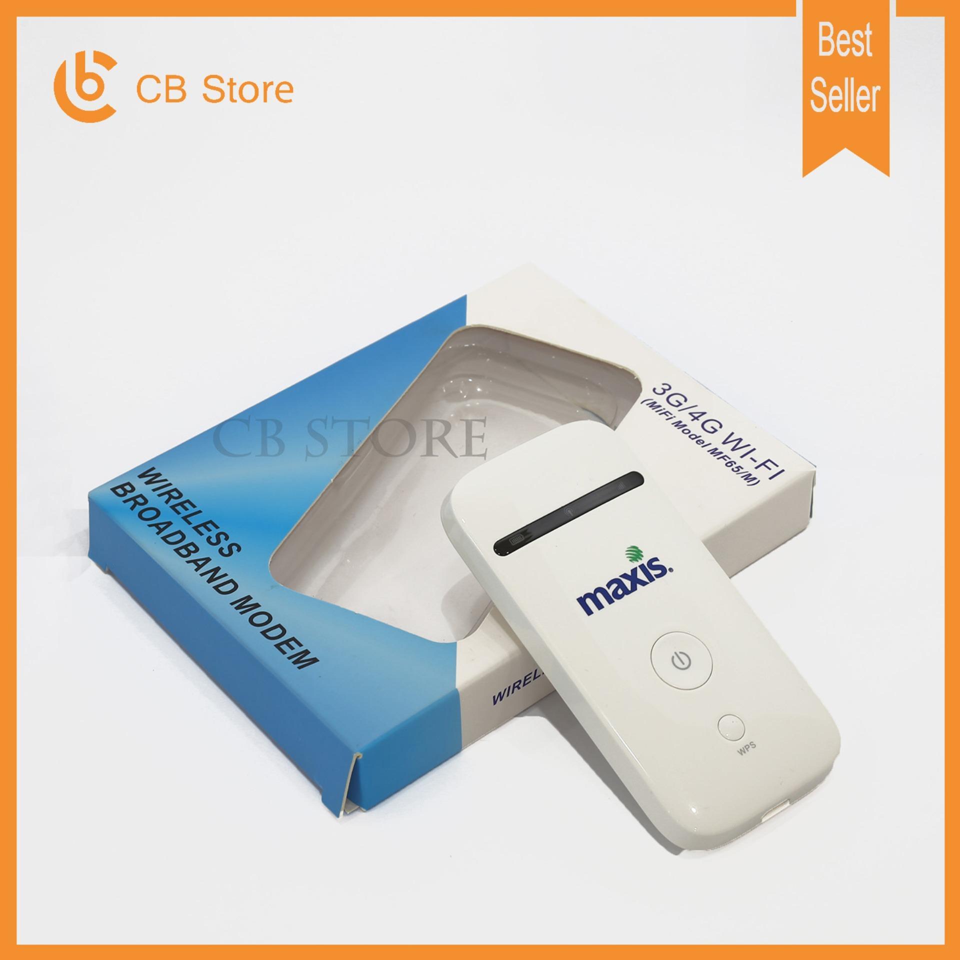 Hình ảnh Bộ phát sóng wifi từ sim 3G/4G ZTE MF65 - Phiên bản Maxis (Trắng)
