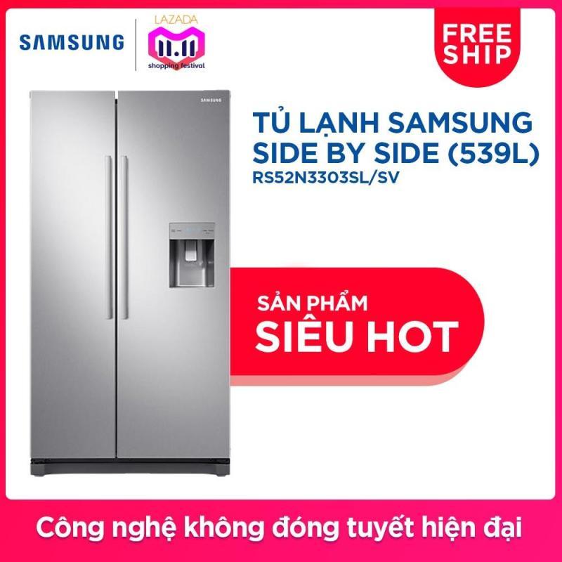 Tủ lạnh Side by Side Samsung RS52N3303SL/SV 539L (Bạc)