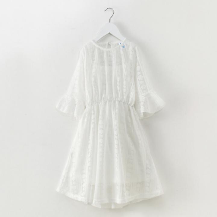 Giá bán váy ren công chúa100% cotton