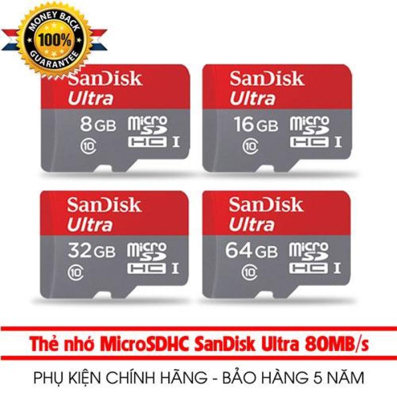 THẺ NHỚ  SanDisk MicroSDHC 8GB 16GB 32GB 64GB KÈM Adapter