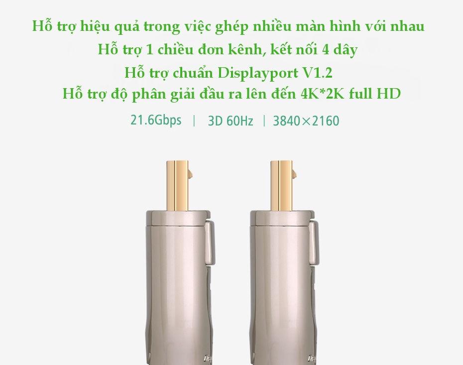 Dây DisplayPort 1.2 hỗ trợ 3D, 4Kx2K 60Hz, 2M UGREEN DP107