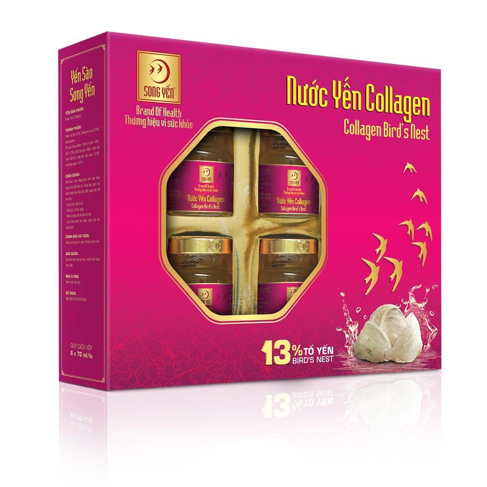 Chiết Khấu Nước Yến Collagen Song Yến Hộp 6 Lọ 70Ml Có Thương Hiệu