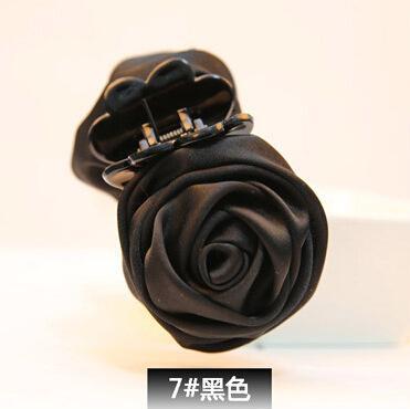Kẹp tóc bông hoa hồng - Phù hợp chụp ảnh du lịch - ĐEN