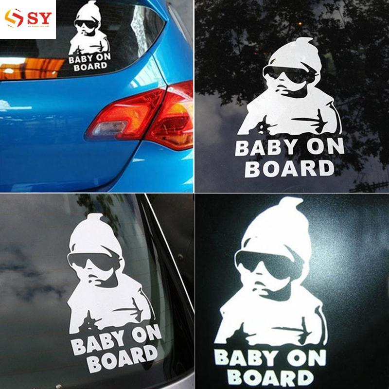 So Young Hot Girl Baby On Board Funny Truck Window Car Sticker Auto Truck Waterproof - Intl By So Young.