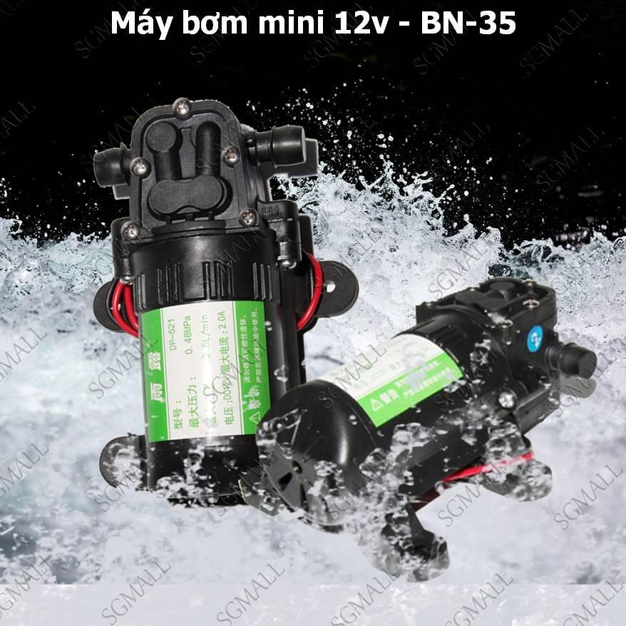 Máy Bơm Rửa Xe Mini, mua Máy Bơm Mini 12V -35 Đa Năng, Bơm Nước Tăng Áp Rửa Xe Máy, Bơm Bể Nước Bể Cá, Tiết Kiệm Chi Phí Cho Gia Đình, Bảo Hành Uy Tín.