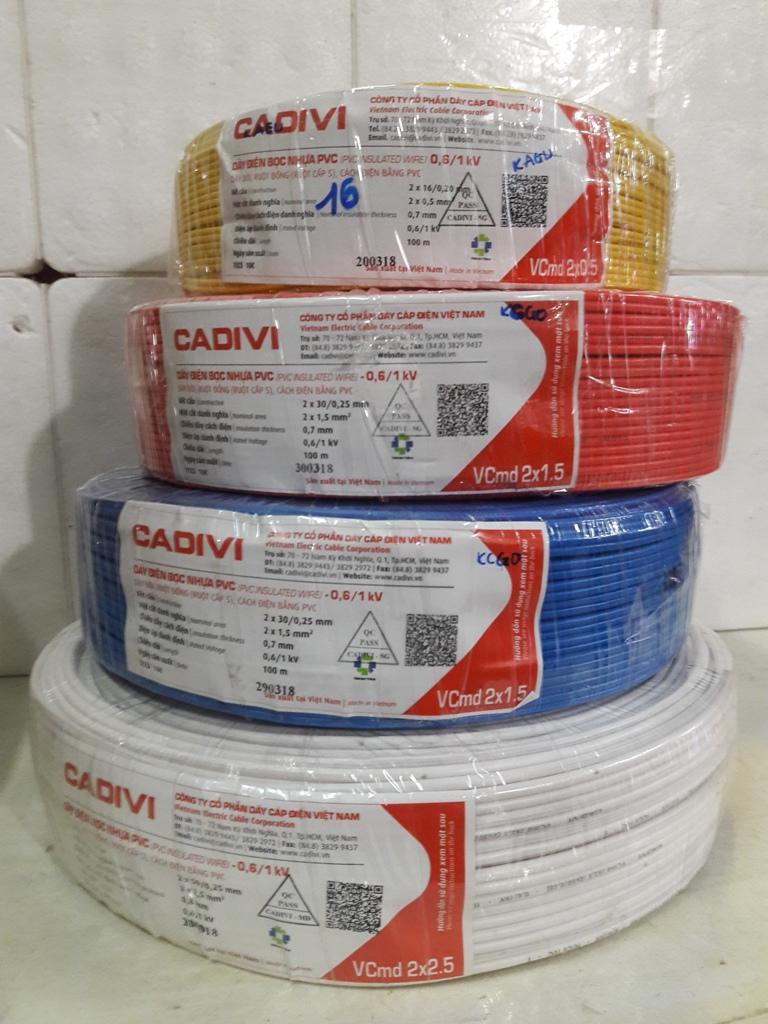 Dây điện đôi mềm Cadivi Vcmd 2x2.5 100 mét