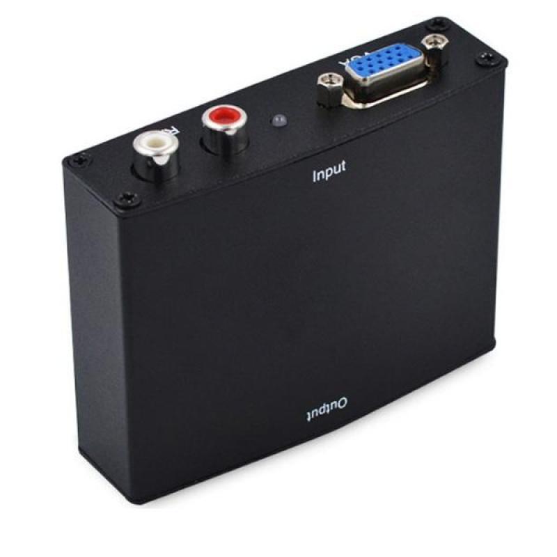 Bảng giá Bộ chuyển đổi VGA sang HDMI Box VGA to HDMI-full box có adpter Phong Vũ