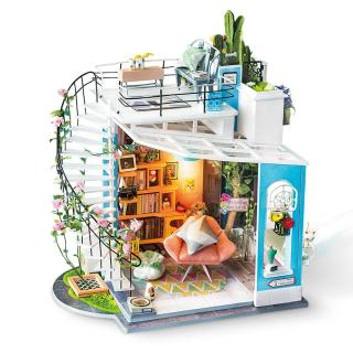 [Lấy mã giảm thêm 30%]Mô hình nhà lắp ghép Ngôi nhà của Dora Robotime -Diydollhouse thumbnail