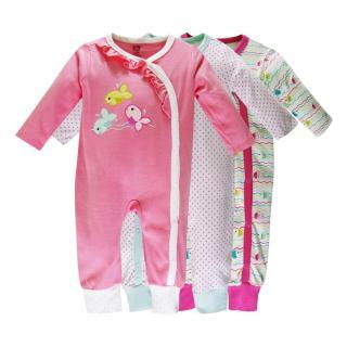 Set 3 bộ body Suit dài tay Baby Gear hàng xuất dư đẹp cho bé gái thumbnail