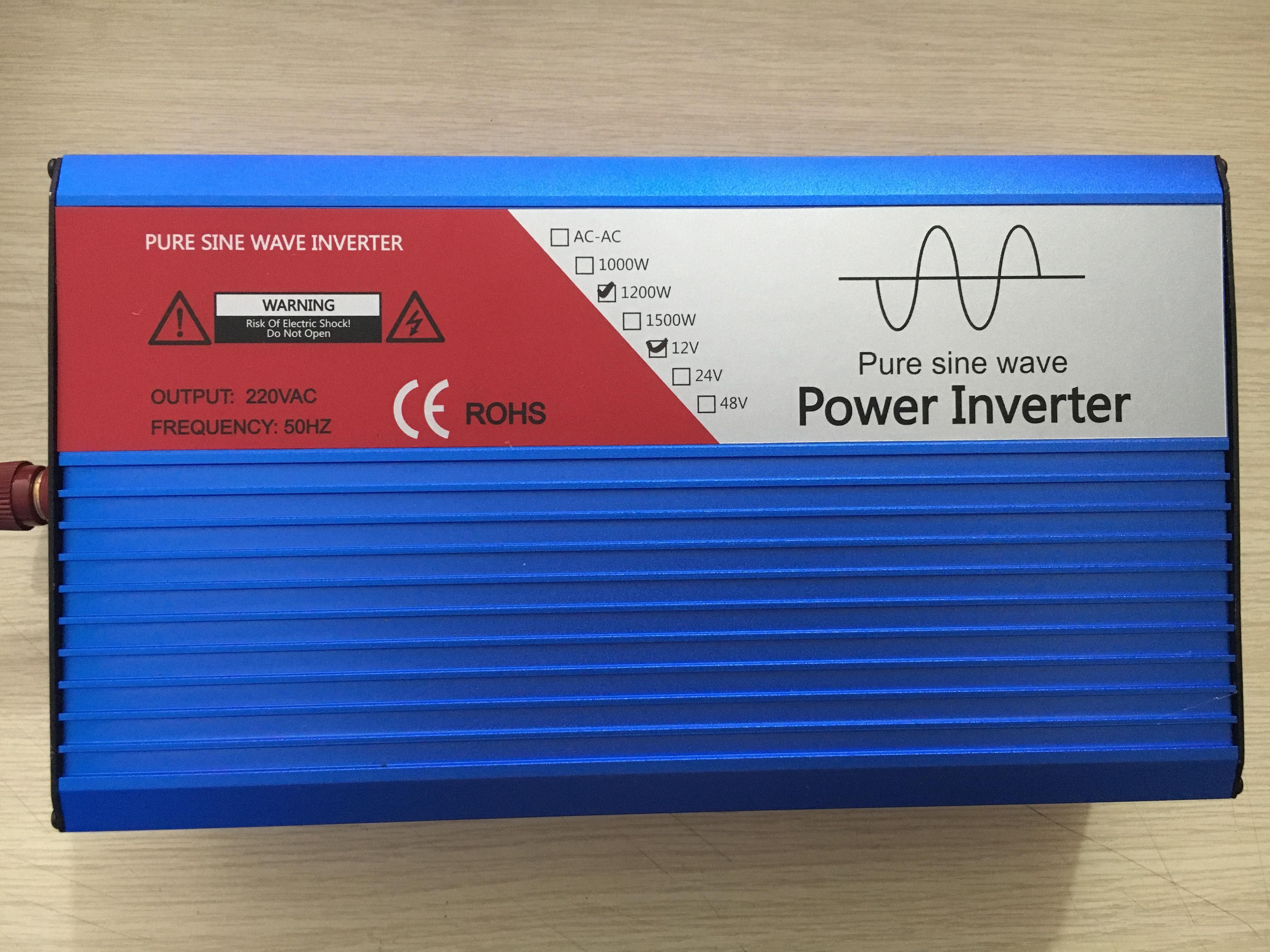 Bộ kích điện Inverter 12V Lên 220v 1200W sin chuẩn IC bảo vệ 6 cấp