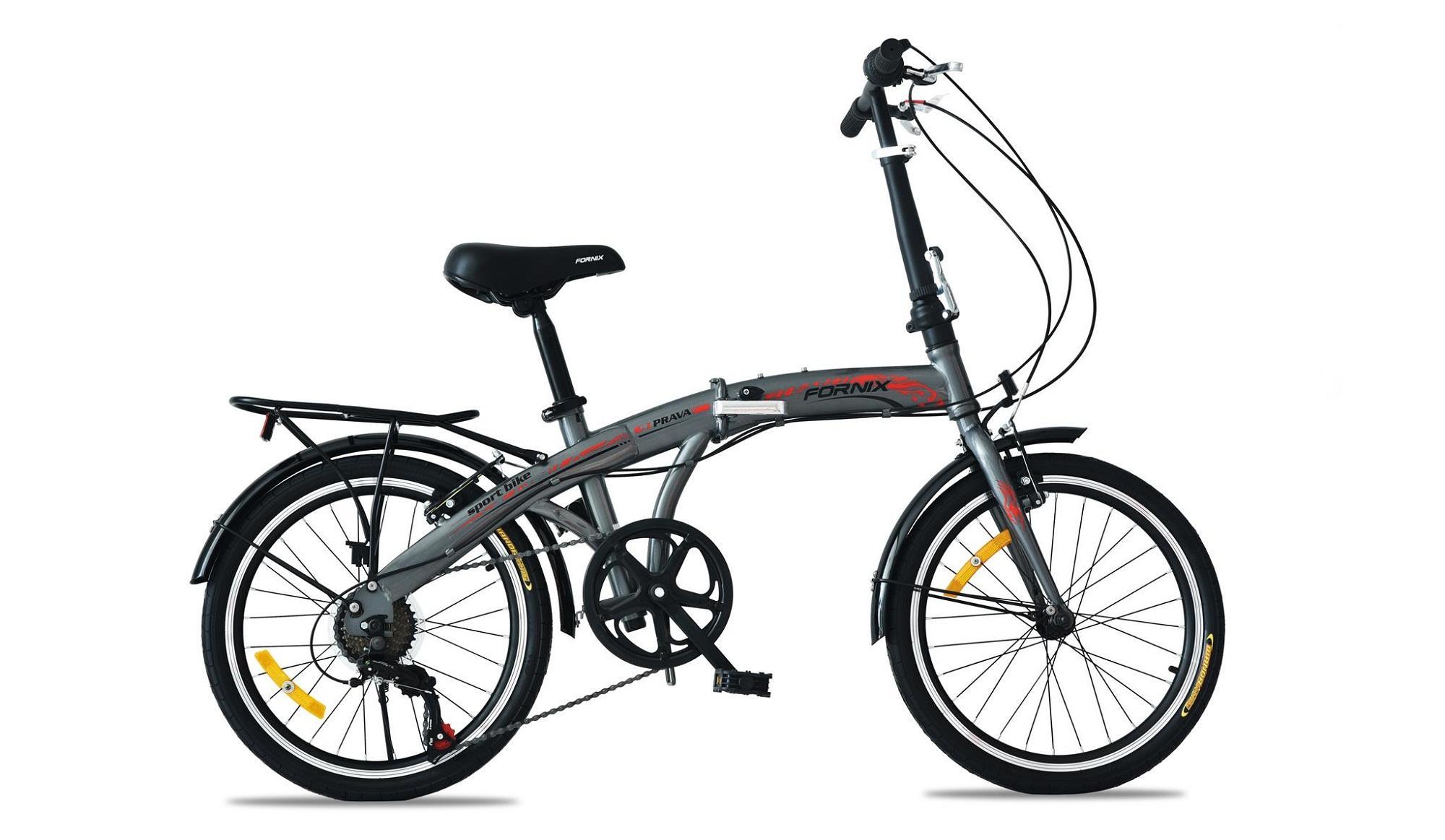 Xe đạp gấp hiệu FORNIX, mã PRAVA  (XÁM ĐEN)