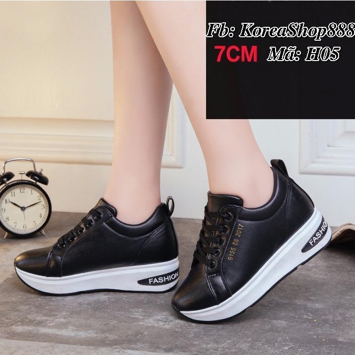Giá Bán Rẻ Nhất Giay Sneaker Độn Đế Nữ 7Cm Da Pu Ma H05 Koreashop888