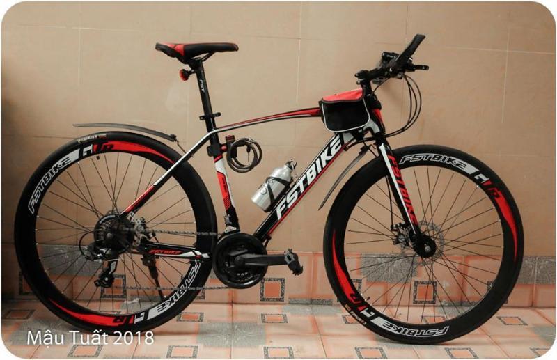 Phân phối Xe đạp thể thao FST GT002 màu đen đỏ