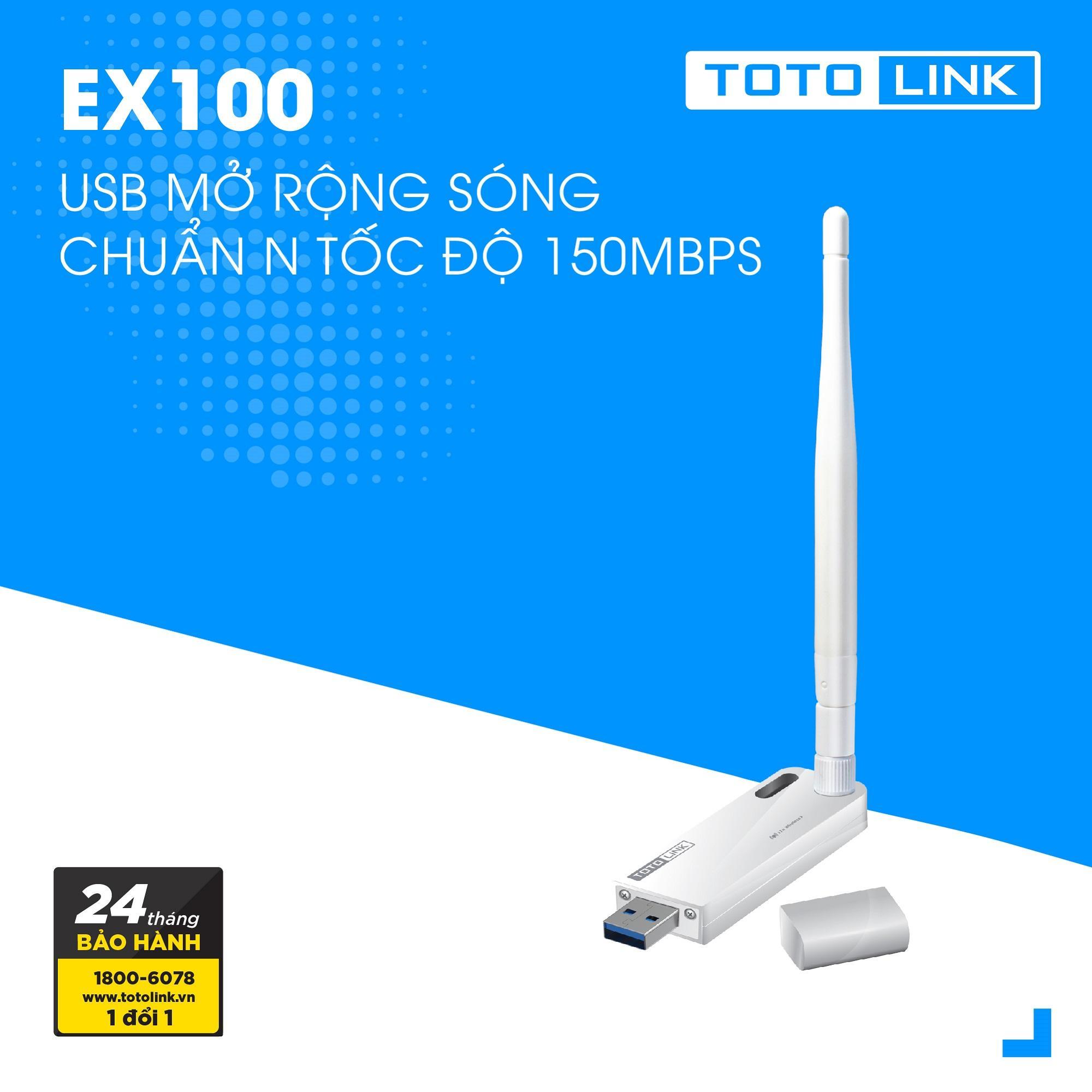 USB mở rộng sóng chuẩn N tốc độ 150Mpbs - EX100 - TOTOLINK