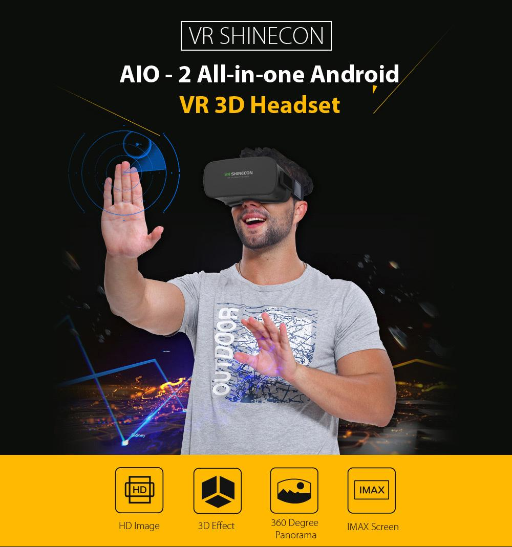 Mã Khuyến Mại Kính Thật Tế ảo Chạy Android 3D Vr Shinecon ALL IN ONE - Không Cần điện Thoại