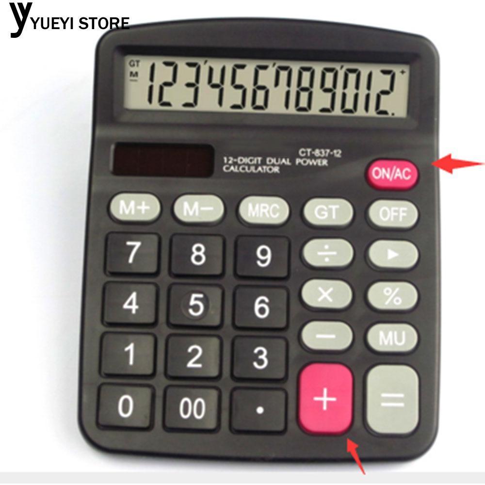 Hình ảnh Office 12-Digits Desktop Electronic Calculator Dual Power Supply Battery