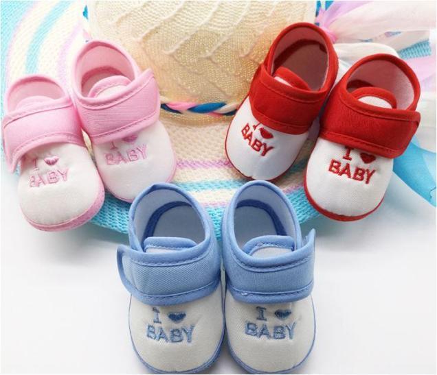 Giày dán tập đi I Love Baby cho bé giá rẻ
